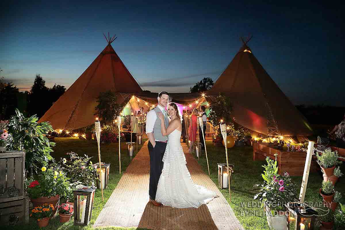 Bawdon Lodge Farm wedding evening (1)