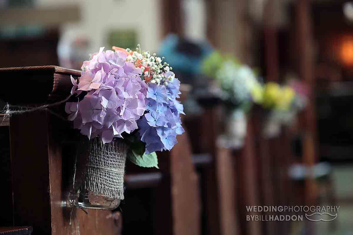 Church wedding leicester pew ends