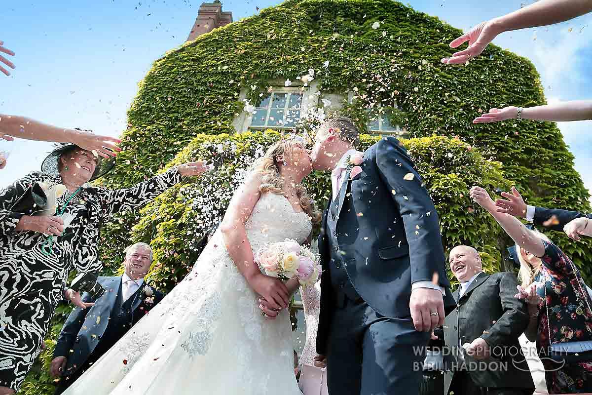 Brooksby Hall wedding confetti