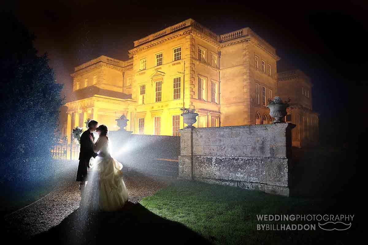 Prestwold Hall wedding rain